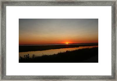 Ending Of A Day Framed Print by James Petersen