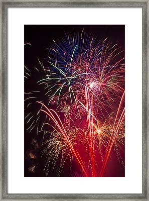 Endless Fireworks Framed Print