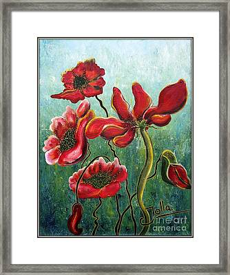 Endless Poppy Love Framed Print by Jolanta Anna Karolska