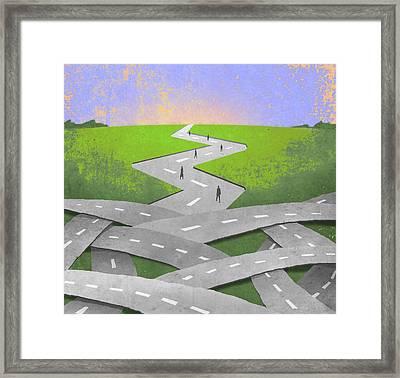 Endless Roads Framed Print by Steve Dininno