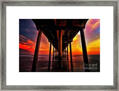 Endless Sunset Framed Print by Peter Dang