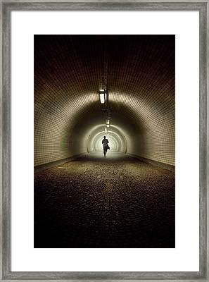Endless Tunnel Framed Print by Jaroslaw Blaminsky