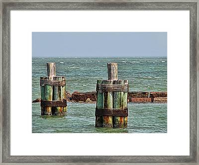Endlessly Staring Out To Sea Framed Print by Wendy J St Christopher