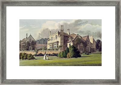 Endsleigh, From Ackermanns Repository Framed Print by English School