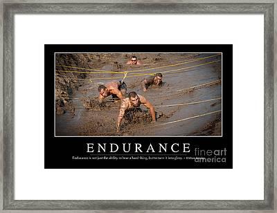 Endurance Inspirational Quote Framed Print by Stocktrek Images