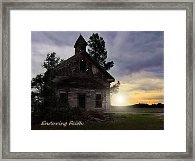 Framed Print featuring the photograph Enduring Faith by Laura Ragland