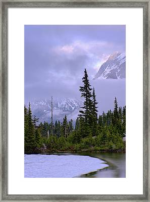 Enduring Winter Framed Print by Chad Dutson