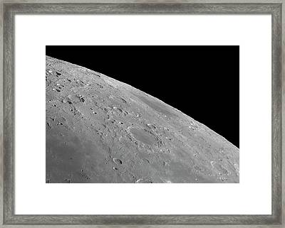 Endymion Crater And Mare Humboldtianum Framed Print