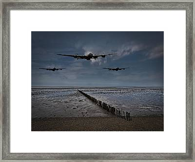 Enemy Coast Ahead Skipper Framed Print by Gary Eason