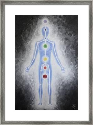 Energy Body Framed Print by Karen Kliethermes