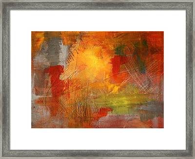 Energy Burst Framed Print