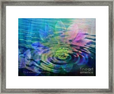 Energy Ripples Framed Print by PainterArtist FIN
