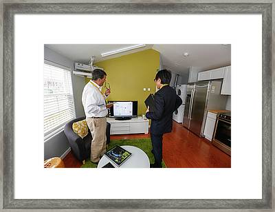 Energy-saving Home With Direct Power Framed Print