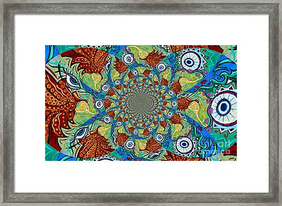 Energy Sprite Kaleidosope Framed Print by Genevieve Esson
