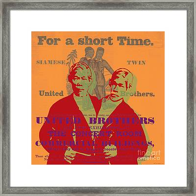 Eng And Chang Framed Print
