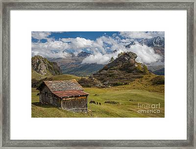 Engadine - Heaven On Earth Framed Print by Ning Mosberger-Tang