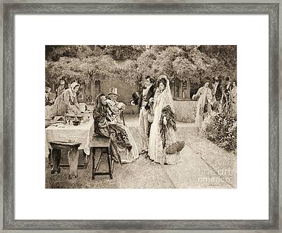 Engagement Announcement 1898 Framed Print by Padre Art