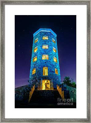 Framed Print featuring the photograph Enger After Dark by Mark David Zahn Photography