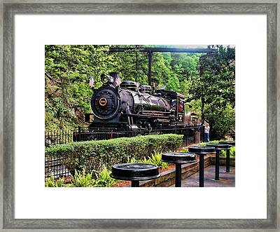 Framed Print featuring the photograph Engine 102 by Victor Montgomery