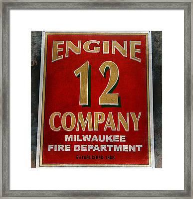 Engine 12 Framed Print