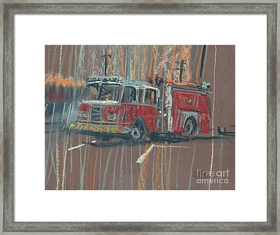 Framed Print featuring the painting Engine 56 by Donald Maier