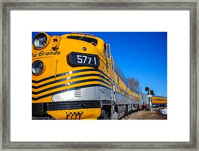 Framed Print featuring the photograph Engine 5771 by Shannon Harrington