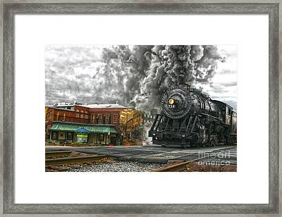 Engine 734 On The Western Maryland Scenic Railroad  Framed Print