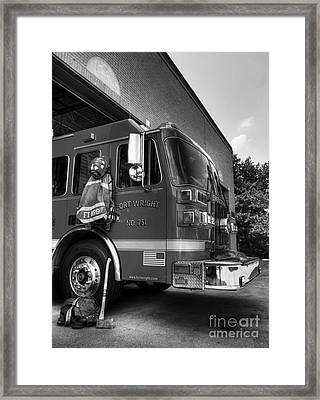 Engine 751 Bw Framed Print by Mel Steinhauer
