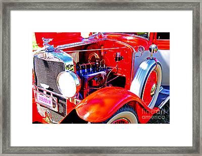 Engine Bay Of Graham Paige Car Framed Print