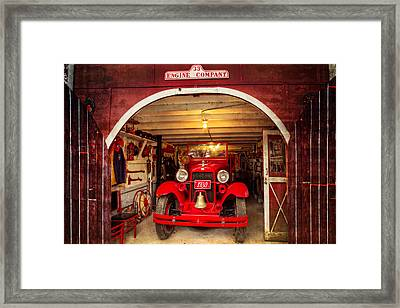 Engine Company 33 Framed Print by Debra and Dave Vanderlaan