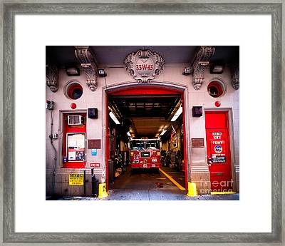 Engine Company 65 Firehouse Midtown Manhattan Framed Print by Amy Cicconi