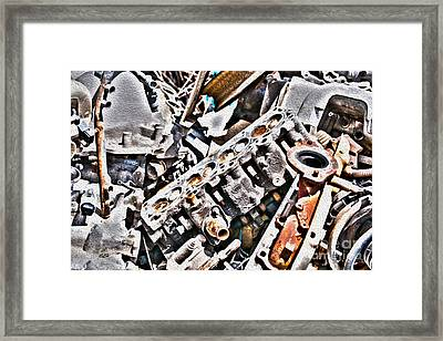 Engine For Parts - Automotive Recycling Framed Print by Crystal Harman