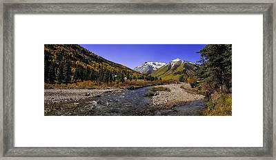 Engineer Pass Panorama Framed Print