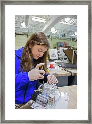 Engineering Academy Student Framed Print by Jim West