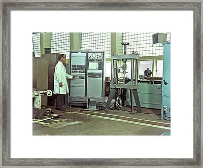 Engineering Test Laboratory Framed Print by Crown Copyright/health & Safety Laboratory Science Photo Library
