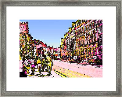 England 1986 Oxford Street Snapshot0145a2 Jgibney The Museum Zazzle Gifts Framed Print by The MUSEUM Artist Series jGibney