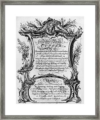 England: Cupper, 1700s Framed Print by Granger