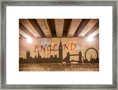England Graffiti Landmarks Framed Print by Semmick Photo