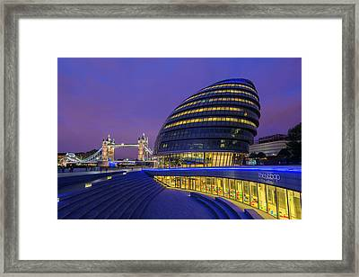 England, London City Hall And The Tower Framed Print by Jaynes Gallery