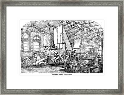 England Paper Mill, 1854 Framed Print