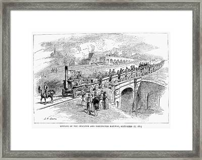 England Railway, 1825 Framed Print