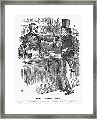 England Reform Bill, 1866 Framed Print