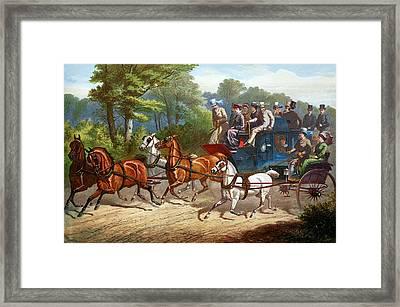 England Road Travel, 1880 Framed Print by Granger
