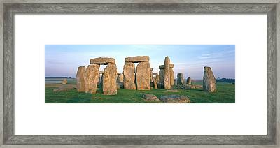 England, Wiltshire, Stonehenge Framed Print by Panoramic Images