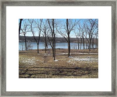Englewood Reserve With Water Framed Print