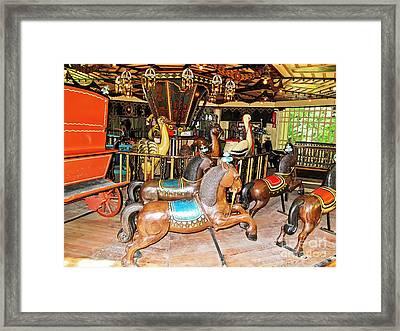 Englischer Garten Carousel Framed Print