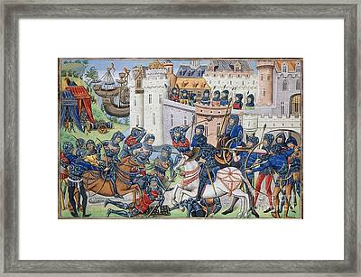 English Army At Brest In 1386 Framed Print