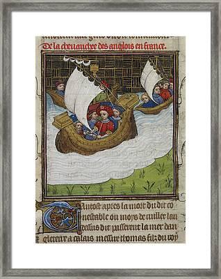 English Army At Sea Framed Print by British Library
