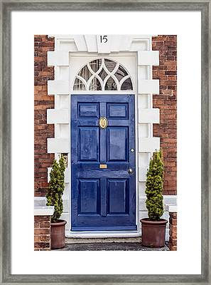 English Blue Door  Framed Print