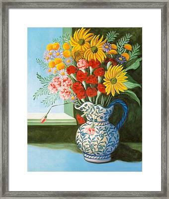 English Bouquet Framed Print